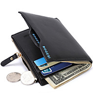 Men Bags PU Money Clip for Shopping Daily Casual All Seasons Black Dark Blue Dark Coffee