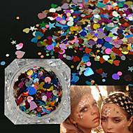 halpa -Glitter Alien Flat Adhesive Pads Tytöt ja nuoret naiset DIY-tarvikkeet Paljetti Nail Salon Tool Hand Lepää