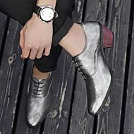 お買い得  メンズオックスフォードシューズ-男性用 靴 PUレザー 春 / 秋 コンフォートシューズ オックスフォードシューズ シルバー / レッド / ブルー / ノベルティシューズ