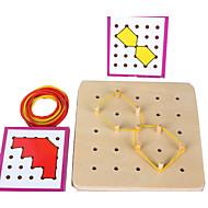 Pribor za učenje Montessori Kocke za slaganje Puzzle Puzzle s klinom Poučna igračka Obrazovanje Kvadrat Dječji Poklon