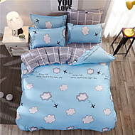 Duvet Cover Sets Plants 4 Piece Reactive Print (If Twin size, only 1 Sham or Pillowcase)