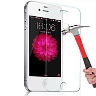 זכוכית מחוסמת (HD) ניגודיות גבוהה קשיחות 9H קצה מעוגל 2.5D מגן מסך קדמי Apple