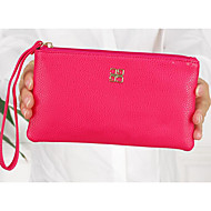 Women Coin Purse PU All Seasons Rectangle Zipper Blue Black Fuchsia