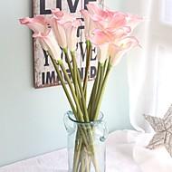5 개 5 분기 실크 폴리에스터 카라 릴리 테이블  플라워 인공 꽃