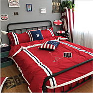 Duvet Cover Sets Flags 4 Piece Cotton Cloth Machine Made Cotton Cloth 1pc Duvet Cover 1pc Flat Sheet