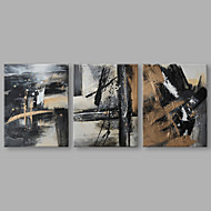 cheap Discount Paintings-Oil Painting Hand Painted - Abstract Artistic Canvas