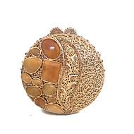 baratos Clutches & Bolsas de Noite-Mulheres Bolsas Metal Bolsa de Festa Cristais / Corrente de Metal / Riscas Dourado / Rhinestone Crystal Evening Bags