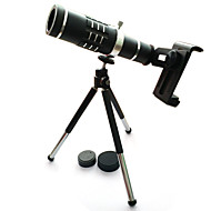 cheap -High quality 18x Zoom Optical Telescope Telephoto Lens Kit Phone Camera Lenses With Tripod For iPhone 6 7 Samsung S7 Xiaomi mi6 (Black)