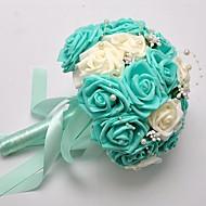 "Wedding Flowers Bouquets Wedding Foam Satin 9.06""(Approx.23cm)"