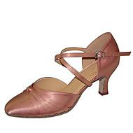 """billige Moderne sko-Dame Moderne Silke Sandaler Ytelse Kryssdrapering Stiletthæl Svart Blå Mandel 3 """"- 3 3/4"""" Kan spesialtilpasses"""