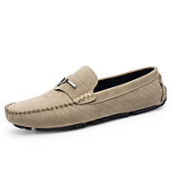 cheap Men's Slip-ons & Loafers-Unisex Moccasin Suede Summer / Fall Loafers & Slip-Ons Black / Gray / Khaki / Party & Evening / Comfort Loafers