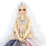Naisten Synteettiset peruukit perverssi Valkoinen Doll Wig puku Peruukit