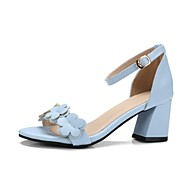 cheap Women's Sandals-Women's Shoes Patent Leather Summer Formal Shoes Light Soles Flower Girl Shoes Slingback Comfort Sandals Walking Shoes Low Heel Chunky