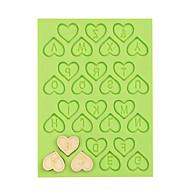 amor coração silicone número mofo bolo ferramentas de decoração fundente mofo chocolate fimo argila cor do molde aleatório