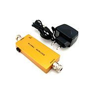 Mini 3g w-cdma mobiltelefon signal booster umts 2100mhz signal repeater forsterker med strømadapter gull