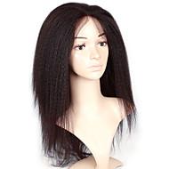 Kvinder Syntetiske parykker Lokkløs Lang Kinky Krøllet Afro Svart Afroamerikansk parykk Til fargede kvinner Naturlig hårlinje Naturlig