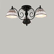 זול תאורה ומאווררים לתקרה-60w רצף הר מודרני / עכשווי ציור תכונה עבור מיני סגנון מתכת סלון / חדר שינה / מטבח