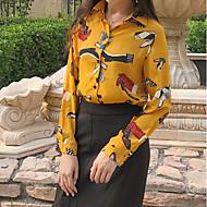 billige Topper til damer-Skjortekrage Skjorte - Blomstret Dame