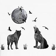 風景 動物 ファッション ウォールステッカー プレーン・ウォールステッカー 飾りウォールステッカー 3D, プラスチック ホームデコレーション ウォールステッカー・壁用シール 壁 窓