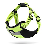 Dog Harness Anti-Slip Reflective Breathable Safety Adjustable Solid Polyester Net Nylon