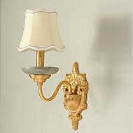 5 E12/E14 Tiffany Enkel Traditionel / Klassisk Land Messing Trekk for Mini Stil Pære inkludert,Opplys Vegglampe