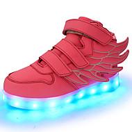 Meisjes Sneakers Comfortabel Oplichtende schoenen Herfst Winter Kunstleer Wandelen Sportief Causaal LED Platte hak Zwart Rood Groen Blauw