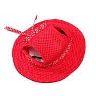 preiswerte Bekleidung & Accessoires für Hunde-Katze Hund Haar Accessoires Bandanas & Mützen Weihnachten Hundekleidung Party Cowboy Lässig/Alltäglich Sport Solide Orange Purpur Rot