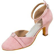 billige Moderne sko-Dame Moderne sko Semsket fuskelær Sandaler / Høye hæler Rhinsten / Spenne Kustomisert hæl Kan spesialtilpasses Dansesko Grønn / Rosa