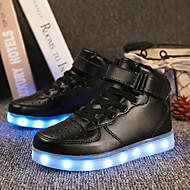 tanie Obuwie chłopięce-Dla chłopców Obuwie Derma Jesień / Zima Wygoda / Świecące buty Adidasy Spacery Haczyk i pętelka / LED na Czarny / Srebrny / Czerwony