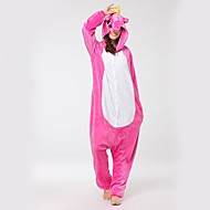 Kigurumi-pyjamas Pegasus / Unicorn Onesie-pyjamas Kostume Flannelstof Lys pink Cosplay Til Voksne Nattøj Med Dyr Tegneserie Halloween