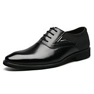 גברים נעליים עור אביב קיץ סתיו חורף נוחות נעליים פורמלית נעלי אוקספורד שרוכים עבור קזו'אל שחור חום