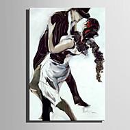 billiga Människomålningar-Hang målad oljemålning HANDMÅLAD - Människor Abstrakt Duk