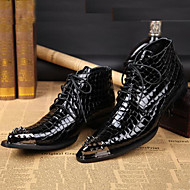 Men's Boots Cowboy / Western Boots Riding Boots Fashion Boots Motorcycle Boots Bootie Combat Boots Formal Shoes Fall Winter Nappa Leather