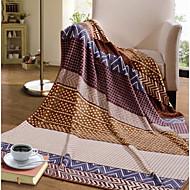baratos Cobertores e Mantas-Tecido Pontos Combinação Poliéster/Algodão cobertores