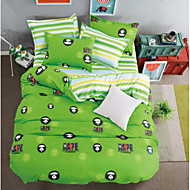 Cartoon 4 Piece Polyster Polyster 4pcs (1 Duvet Cover, 1 Flat Sheet, 2 Shams)