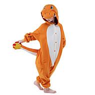Barn Kigurumi-pyjamas Tecknat drake Onesie-pyjamas Polär Ull Orange Cosplay För Pojkar och flickor Pyjamas med djur Tecknad serie Festival / högtid Kostymer