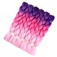 Hår till flätning Virkad Jumboflätor Syntetiskt hår 1pc / förpackning Hårflätor Nyans Ombre flätat hår