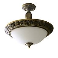 伝統的な芸術的な黄銅3ライトフラッシュマウント天井固定具