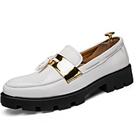 cheap Men's Slip-ons & Loafers-Men's Formal Shoes Patent Leather Fall / Winter British Loafers & Slip-Ons White / Black / Blue / Party & Evening / Party & Evening / Outdoor / Office & Career