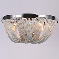 Aluminum Stream Ceiling light E12/E14/Designer Flush Mounted/Silver /Bedroom  Dia60CM