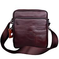Ανδρικά Τσάντες Δέρμα αγελάδας Σταυρωτή τσάντα για Causal Γραφείο & Καριέρα ΕΞΩΤΕΡΙΚΟΥ ΧΩΡΟΥ Όλες οι εποχές Μαύρο Καφέ