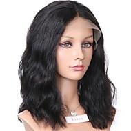 Remy hår Blonde Front Paryk Brasiliansk hår Bølget / Naturligt, bølget hår Paryk Bob frisure / Kort bob / Mellemdel 130% Med Baby Hair / Natural Hairline / Afro-amerikansk paryk Naturlig Dame 8-14