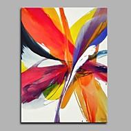 billiga Abstrakta målningar-Hang målad oljemålning HANDMÅLAD - Abstrakt Artistisk Abstrakt Modern Duk