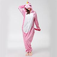 Kigurumi Pijamas Cavalo Voador Ocasiões Especiais Rosa Flanela Fantasias de Cosplay Kigurumi Malha Collant / Pijama Macacão Cosplay