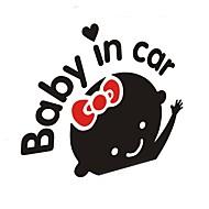 Auton sisustustarrat lapsille autossa (musta valkoinen)