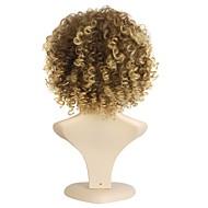 Naisten Synteettiset peruukit Suojuksettomat Lyhyt Kihara Black / Hunaja Blondi Tummille naisille Afro-amerikkalainen peruukki