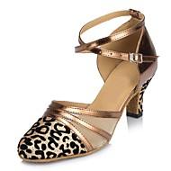 baratos Sapatilhas de Dança-Mulheres Sapatos de Dança Moderna Glitter Sandália Salto Personalizado Sapatos de Dança Bronze / Cinzento / Vermelho / Interior