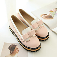Women's Shoes PU Spring Comfort Flats Flat Heel Round Toe With For Casual Black Blue Blushing Pink