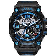 SMAEL Homens Relógio Esportivo Relogio digital Relógio de Moda Relógio de Pulso Digital Alarme Impermeável LED Dois Fusos Horários