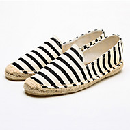 cheap Women's Slip-Ons & Loafers-Women's Shoes Canvas Cotton Spring Summer Moccasin Espadrilles Light Soles Loafers & Slip-Ons Flat Heel Round Toe Animal Print for Casual